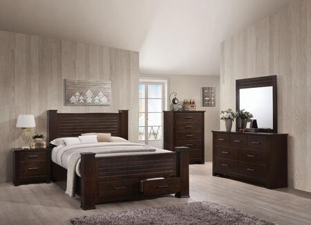 Acme Furniture Panang 23367EKSET Bedroom Set Brown, 5 PC Set
