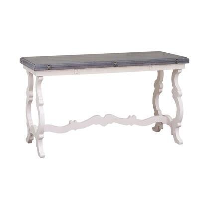 17288 Volume Console Table  in Indian White  Antique Smoke  Antique