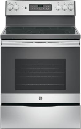 GE JB655SKSS Freestanding Electric Range Stainless Steel, Front View
