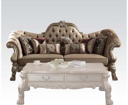 Acme Furniture Dresden 52090 Stationary Sofa Gold, Sofa