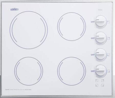 Summit CR425WH Electric Cooktop White, CR425WH Electric Cooktop