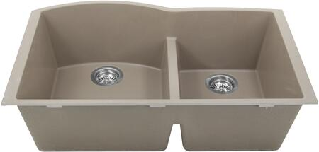 PR6040-TR-UM Plymouth Collection Sink 33″ Undermount Sink with Double Bowls  Sound Absorption  Scratch Resistant and Heat Resistant  in