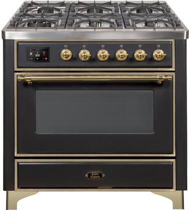 UM09FDNS3MGG 36″ Majestic II Series Dual Fuel Natural Gas Range with 6 Burners and Griddle  3.5 cu. ft. Oven Capacity  TFT Oven Control Display