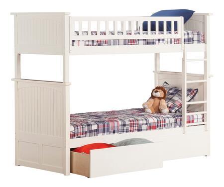 Atlantic Furniture Nantucket AB59142 Bed White, AB59142 SILO BD2 30