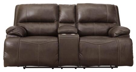 Signature Design by Ashley Ricmen U4370118 Loveseat Brown, Front View
