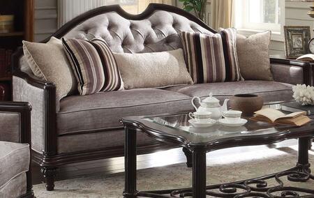 Acme Furniture Azis 53770 Stationary Sofa Gray, 1