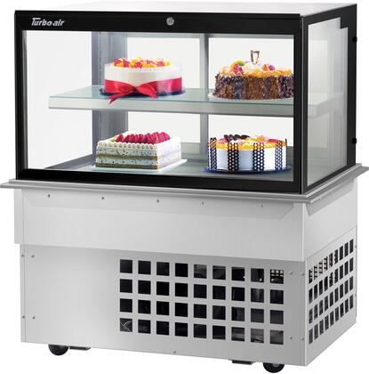 Turbo Air  TBP4846FDN Display and Merchandising Refrigerator Stainless Steel, TBP4846FDN Angled View