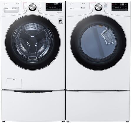 LG  1289219 Washer & Dryer Set White, 1