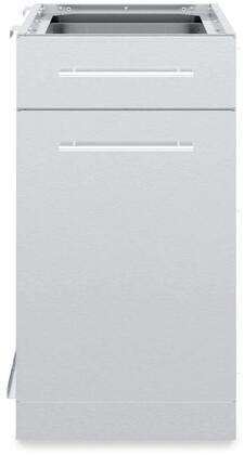 802300 1 Door and 1 Drawer Cabinet in Stainless