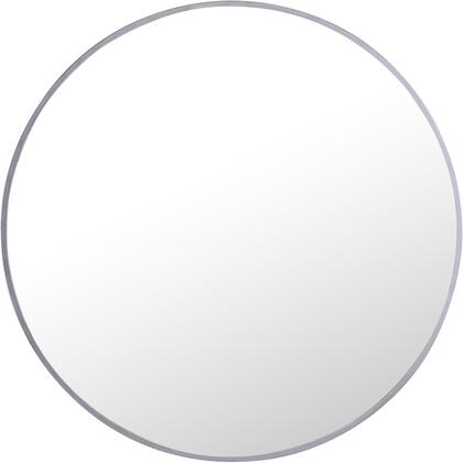MR4033S Metal Frame Round Mirror 24″ Silver