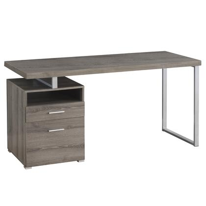 333385 60″ Computer Desk with 2 Drawers  Open Shelf  Metal Handles  Rectangular Shape  Particle Board  Hollow-Core  Laminated and Medium-Density