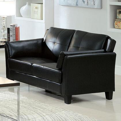 Furniture of America Pierre CM6717BKLVPK Loveseat Black, Main Image