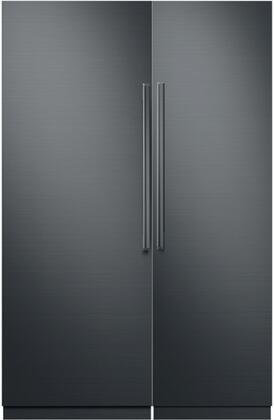 Dacor Contemporary 786321 Column Refrigerator & Freezer Set Graphite Stainless Steel, 1