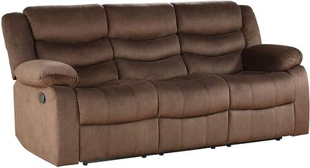 Angelina Collection 55045 Sofa (Motion)  Horizontal Tufted  External Latch Handle  KD Back  Tight Back & Seat Cushion  Armrest Pillow Top  Wood &
