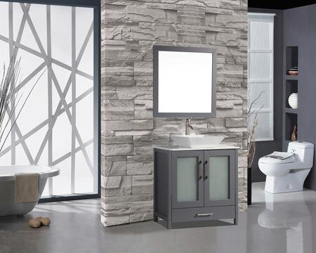 Jordan Collection MTD-1124G 24″ Single Sink Bathroom Vanity Set in