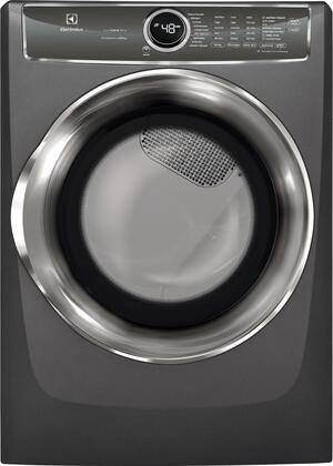 Electrolux EFME627UTT 27 Inch Electric Dryer with 8 cu. ft. Capacity, 9 Dry Cycles, 5 Temperature Settings, Steam Cycle, Energy Star Certified, Perfect Steam Wrinkle Release in Titanium