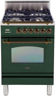 Ilve Nostalgie UPN60DVGGVSY Freestanding Gas Range , UPN60DVGGVSY Nostalgie Gas Range