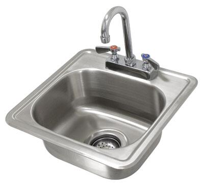 Advance Tabco Lite DI11515X Commercial Drop in  Weld In and Undermount Sink Stainless Steel, Lite Series Drop In Sink