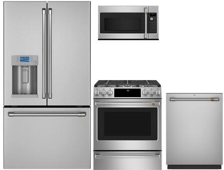 Cafe  1067714 Kitchen Appliance Package Stainless Steel, main image