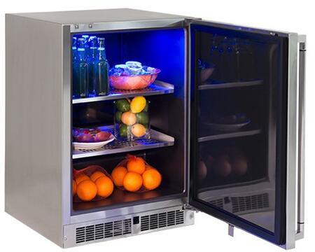 "Lynx  LN24REFR Compact Refrigerator Stainless Steel, LN24REFR 24"" Outdoor Refrigerator"