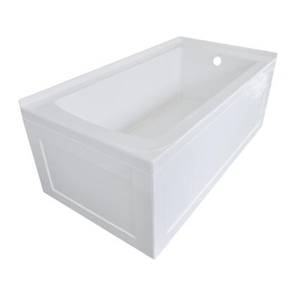Valley Acrylic Signature Collection OVO60322SSKRWHT Bath Tub White, Main Image