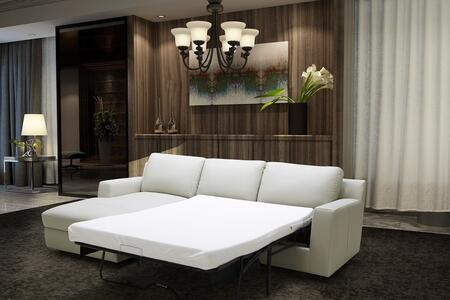 J and M Furniture Lauren 18243XHFC Sectional Sofa White, 1