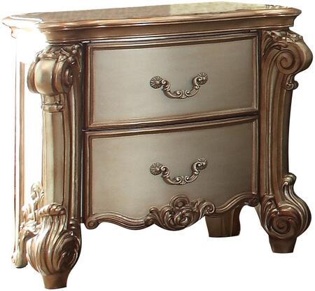 Acme Furniture Vendome 23003 Nightstand Beige, Angled View