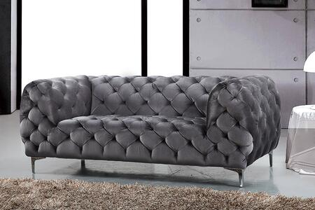 Meridian Mercer 646GRYL Loveseat Gray, Main Image