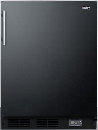 Summit  BKRF663BBIADA Compact Refrigerator Black, BKRF663BBIADA Break Room Refrigerator-Freezer