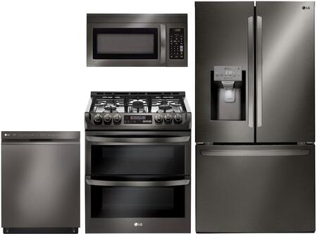 LG 1094190 Kitchen Appliance Package & Bundle Black Stainless Steel, Main Image