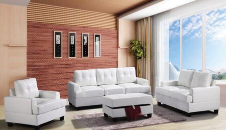 Glory Furniture  G587ASET Living Room Set White, 3 PC Set