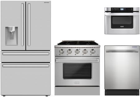 SHARP  1500570 Kitchen Appliance Package Stainless Steel, Main Image