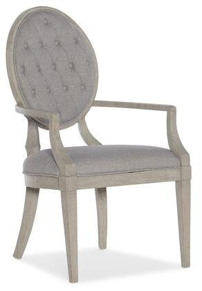 Hooker Furniture Reverie 57957540095 Dining Room Chair Gray, Silo Image