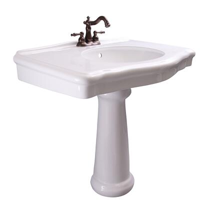3-3004WH Anders Rectangular Pedestal Lavatory  4″ CC