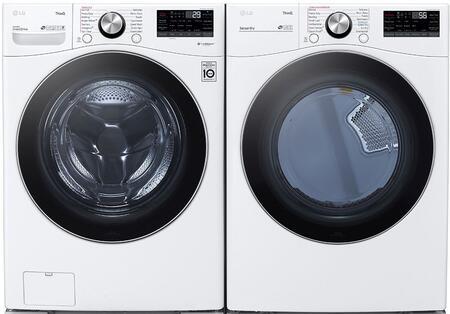 LG  1289218 Washer & Dryer Set White, 1