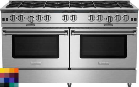 "BlueStar Platinum BSP6010BLCFPLT Freestanding Gas Range Custom Color, 60"" Platinum Series Range"