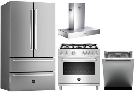Bertazzoni 1127990 Kitchen Appliance Package & Bundle Stainless Steel, Main image