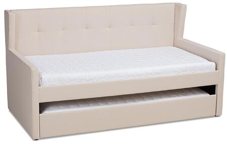 Wholesale Interiors Giorgia CF9018BEIGEDAYBED Bed Beige, CF9018-Beige-Daybed side