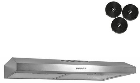AKDY  RH0336 Under Cabinet Hood Stainless Steel, Main Image