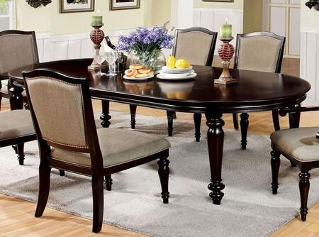 Furniture of America Harrington CM3970T Dining Room Table Brown, Without Chairs