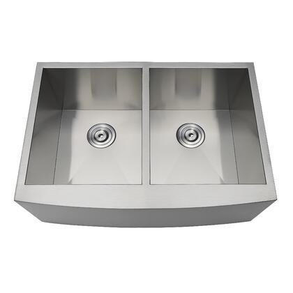 Kingston Brass Uptowne GKUDF302110 Sink Stainless Steel, Main Image