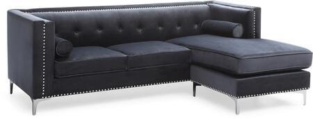 Glory Furniture Capua G0343BSC Sectional Sofa Black, G0343BSC Main Image