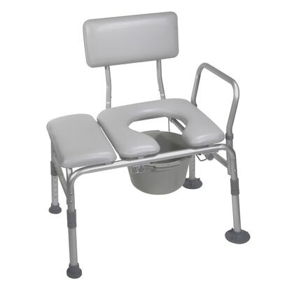 12005kdc-1 Padded Seat Transfer Bench With Commode -  Drive Medical