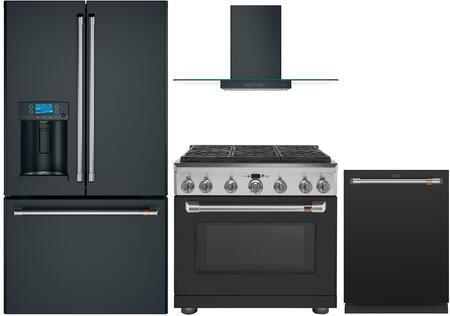 Cafe  1054617 Kitchen Appliance Package Matte Black, Main image