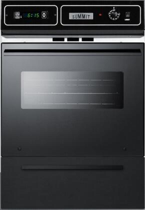 Summit TEM721DK Single Wall Oven Black, TEM721DK Front View