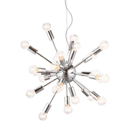 HomeRoots 249348 Ceiling Light Silver, Main Image