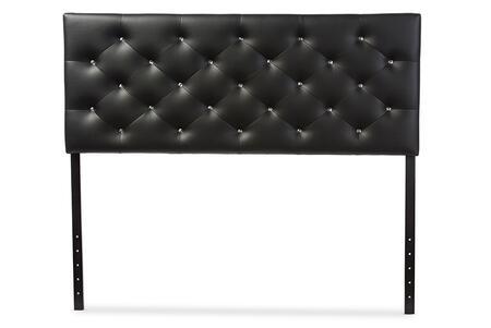 Baxton Studio Viviana BBT6506BLACKQUEENHB Headboard Black, BBT 6506 black 1