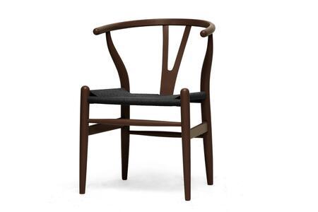 Wholesale Interiors DC541DBBLACKSEAT Accent Chair, DC 541 DB
