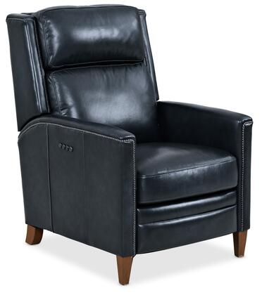 Hooker Furniture RC Series RC239PH098 Recliner Chair Blue, Silo Image