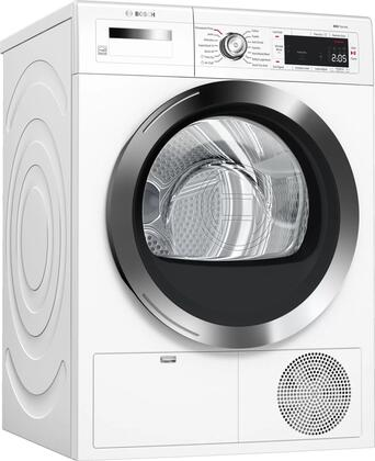 Bosch 800 Series WTG865H4UC Electric Dryer White, Main Image